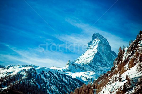 アルプス山脈 空 自然 風景 山 ヨーロッパ ストックフォト © EwaStudio