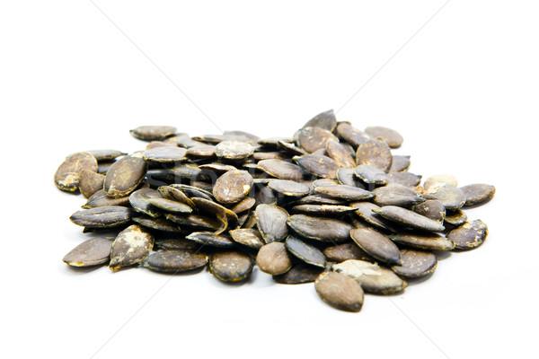 Kürbis Samen weiß Essen weißem Hintergrund Stock foto © EwaStudio