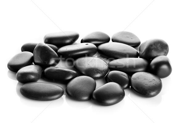 Preto massagem pedras isolado natureza rio Foto stock © EwaStudio