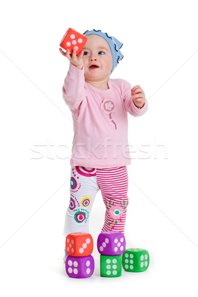 Baby spelen speelgoed witte grappig weinig Stockfoto © EwaStudio
