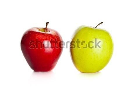 яблоки изолированный белый продовольствие природы фон Сток-фото © EwaStudio