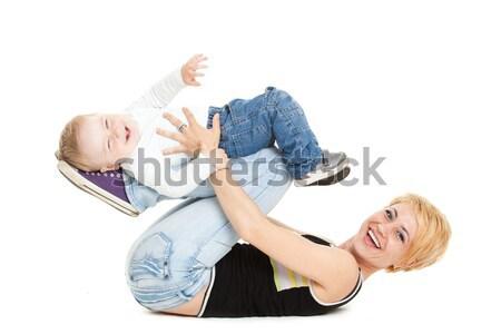 красивой счастливым привлекательный ребенка мальчика белый Сток-фото © EwaStudio