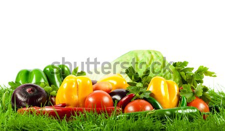 Fresh vegetable isolated on white background.  Healthy Eating. S Stock photo © EwaStudio