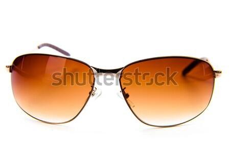Zonnebril geïsoleerd witte sport metaal zomer Stockfoto © EwaStudio