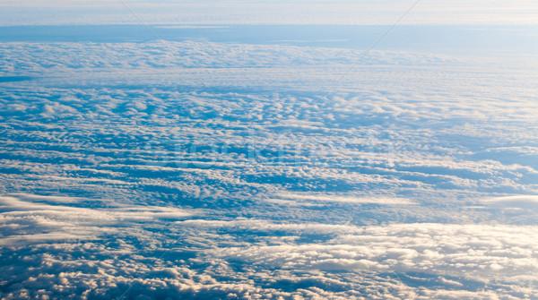 Bulutlar düzlem görmek pencere doğa güzellik Stok fotoğraf © EwaStudio