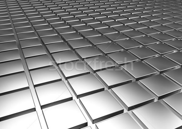 Gümüş Metal bar banka pazar nakit Stok fotoğraf © EwaStudio