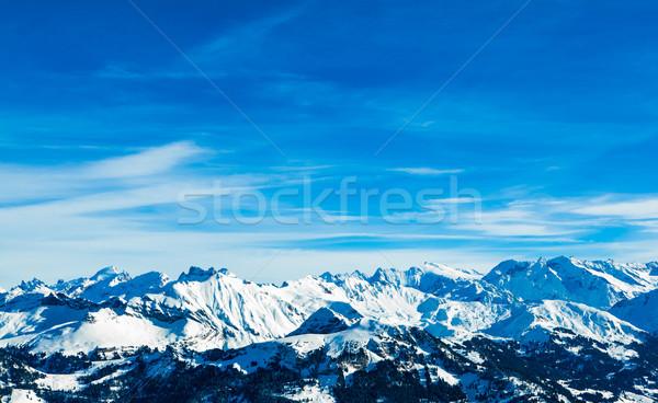 Alps mountain landscape.  Winter landscape Stock photo © EwaStudio