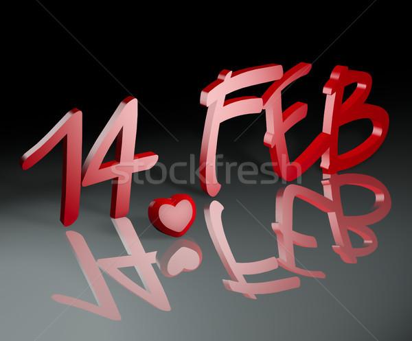 14 february.  Valentine's Day Stock photo © EwaStudio
