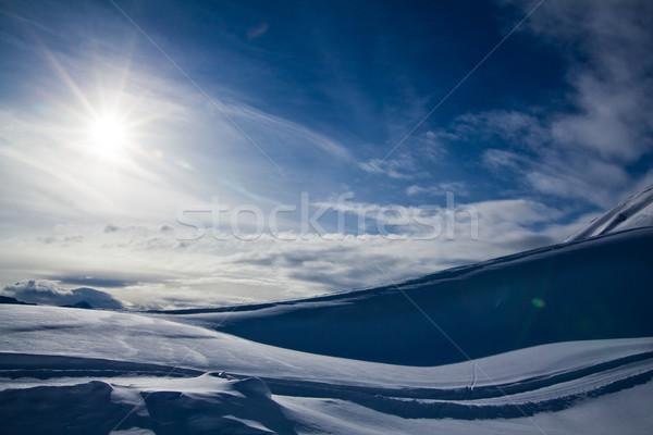 Inverno paisagem montanhas belo neve azul Foto stock © EwaStudio