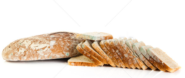 Mold on bread. Mouldy bread, isolated on a white background  Stock photo © EwaStudio