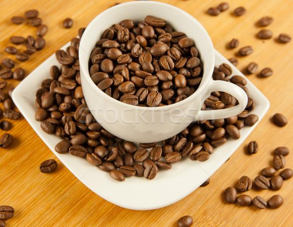 кофе Кубок группа пить кафе темно Сток-фото © EwaStudio