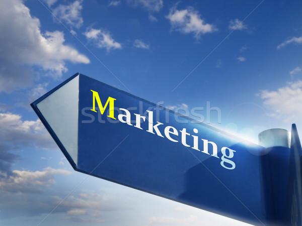 Comercialización signo carretera cantar negocios financieros Foto stock © exile7
