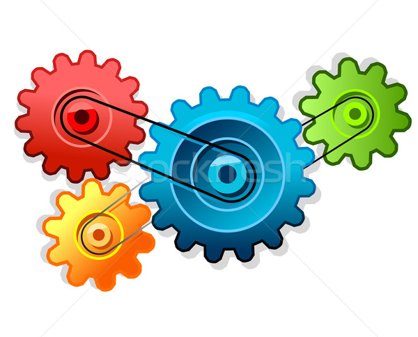 Colorful cogs forming gear Stock photo © exile7