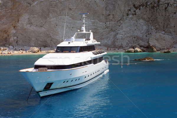 Motorówka luksusowe morze Śródziemne morza ocean podróży Zdjęcia stock © exile7
