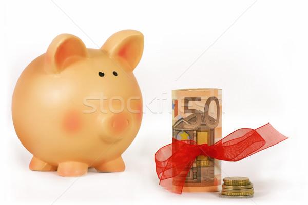 Ahorro dinero alcancía aislado blanco Foto stock © exile7
