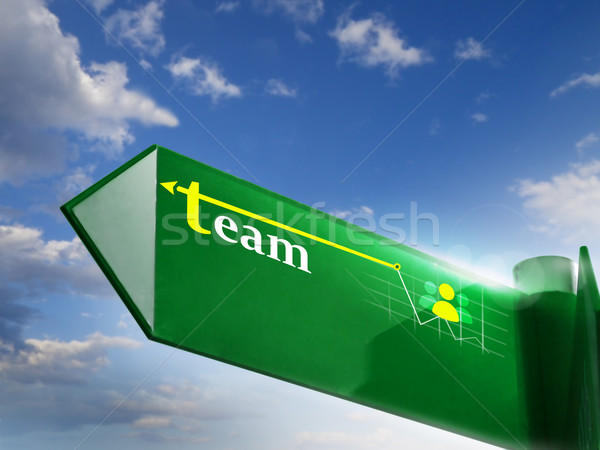 Stockfoto: Team · weg · zingen · business · marketing