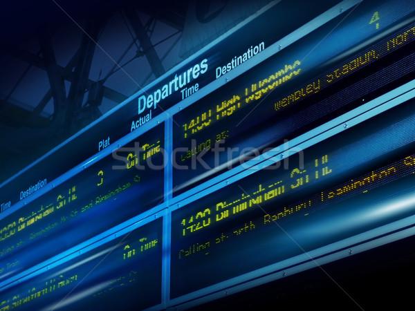 Resumen información bordo Blur transporte información Foto stock © exile7