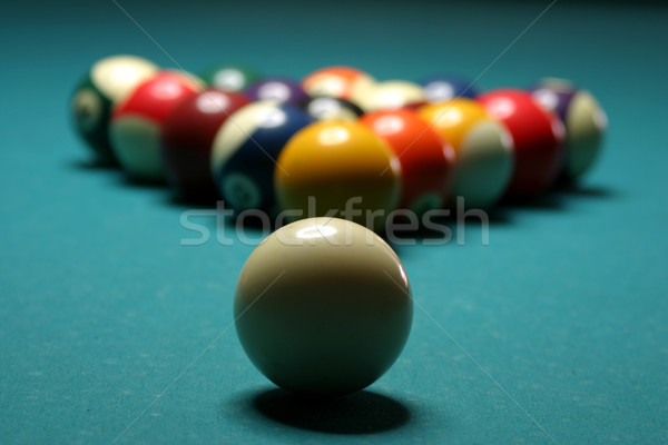 Biljart tabel sport zwembad beker Stockfoto © exile7