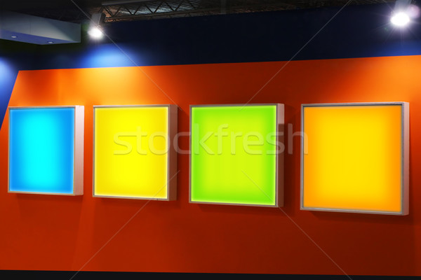 Advertising blank panels Stock photo © exile7