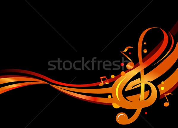 Dorado notas elegante diseno notas musicales fiesta Foto stock © exile7