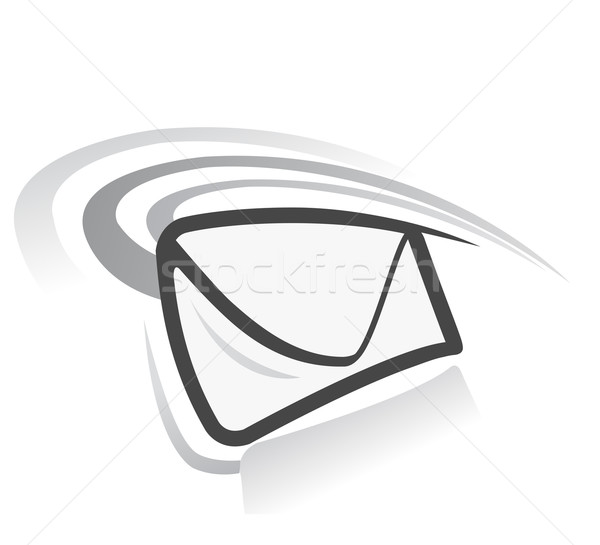 E-mail icon vector witte business werk Stockfoto © exile7