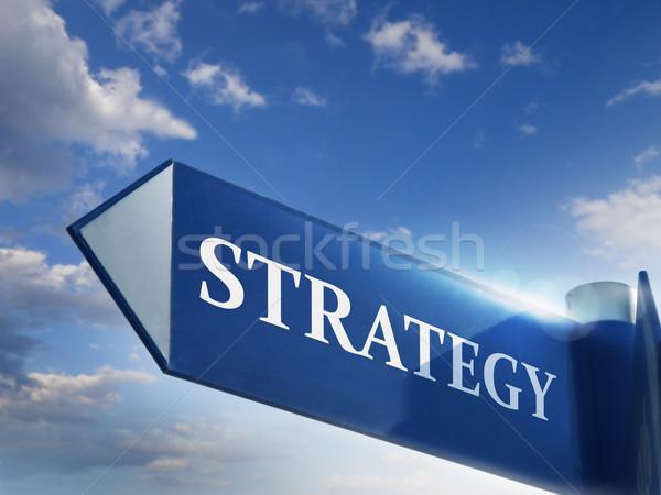 Estrategia senalización de la carretera negocios nubes wallpaper comercialización Foto stock © exile7