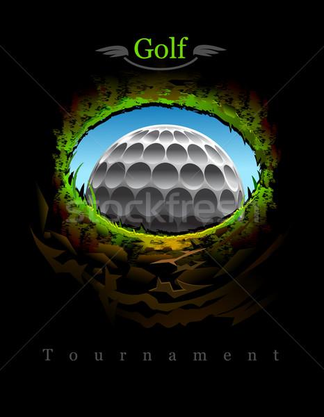 Golf pelota de golf agujero vista dentro jpg Foto stock © exile7