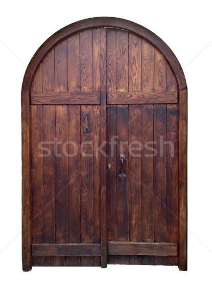 Edad puerta aislado blanco Foto stock © exile7