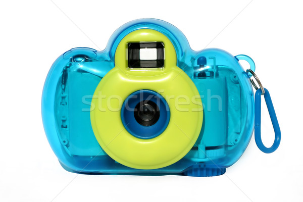 Stockfoto: Foto · camera · witte · zomer · Blauw · speelgoed