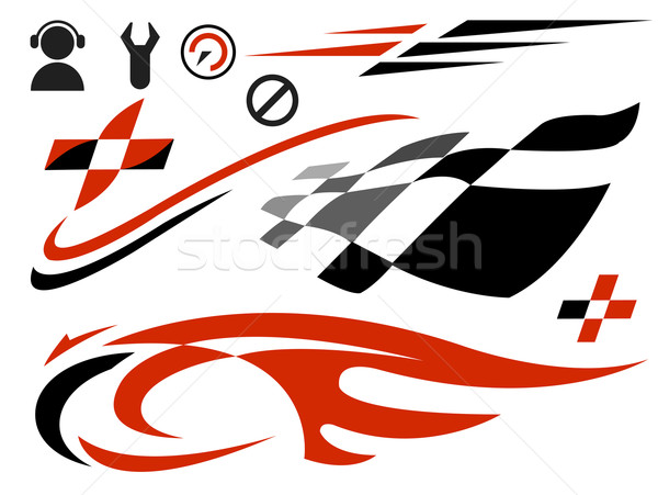 Snelheid iconen vector racing brand sport Stockfoto © exile7