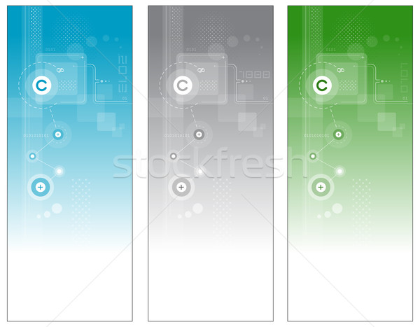 Technologie banners abstract vector ontwerp achtergrond Stockfoto © exile7