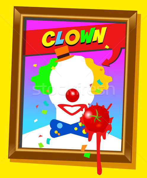 the clown frame Stock photo © exile7