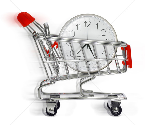 shopping cart with clock Stock photo © exile7