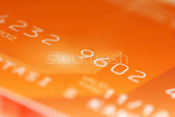 Credit card digits Stock photo © exile7