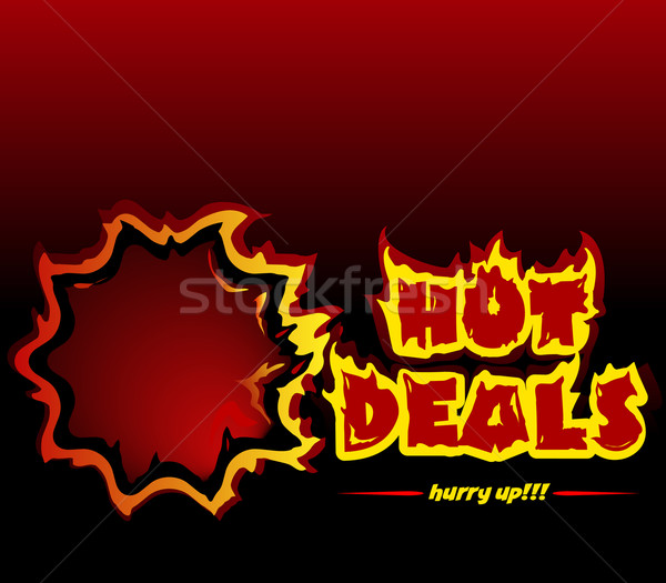 hot deals promotive vector banner Stock photo © exile7