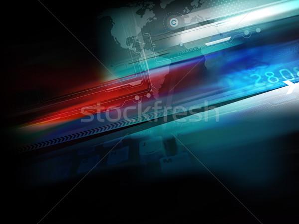 Resumen tecnología azul fondo supervisar Screen Foto stock © exile7