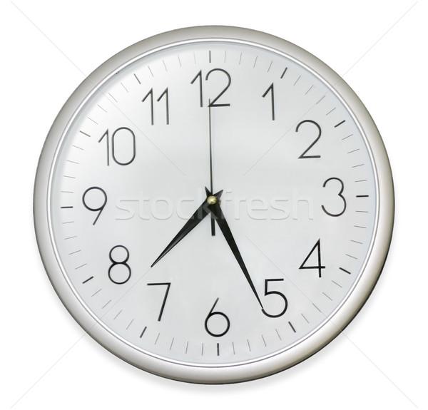 Reloj aislado blanco camino pared tiempo Foto stock © exile7