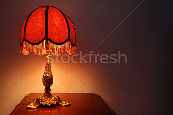 Antique lecture lampe vieux mode table Photo stock © exile7