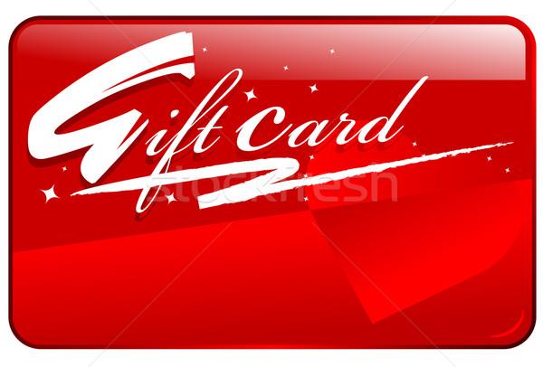 Tarjeta de regalo rojo brillante estacional corazón fondo Foto stock © exile7