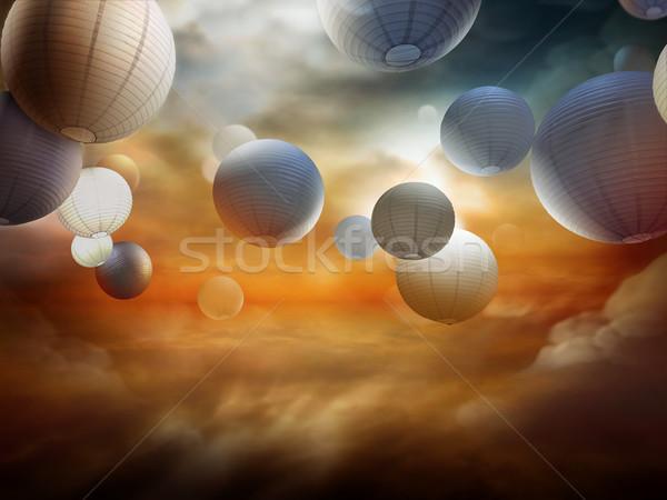 Vida muerte religiosas fantasía ilustración cielo Foto stock © exile7