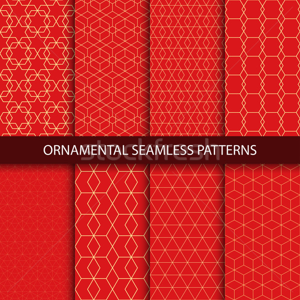 Collection of luxury seamless ornamental patterns.  Stock photo © ExpressVectors