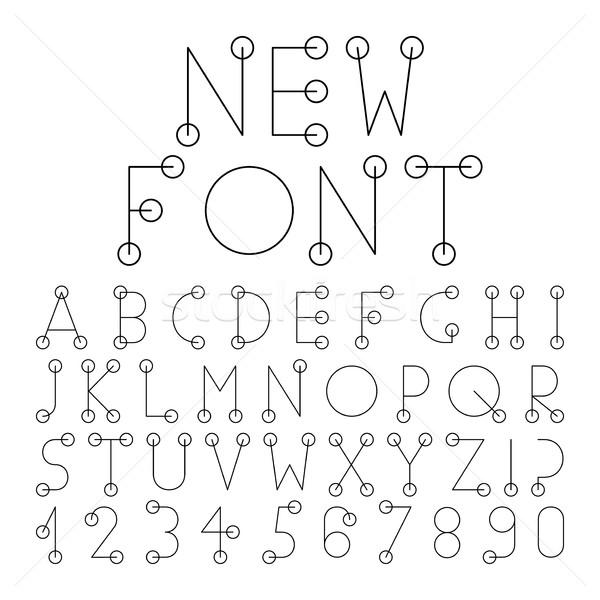 Vector alphabet set with numerals. Stock photo © ExpressVectors