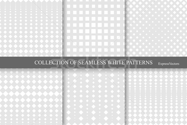 Collection of halftone seamless geometric patterns. Stock photo © ExpressVectors