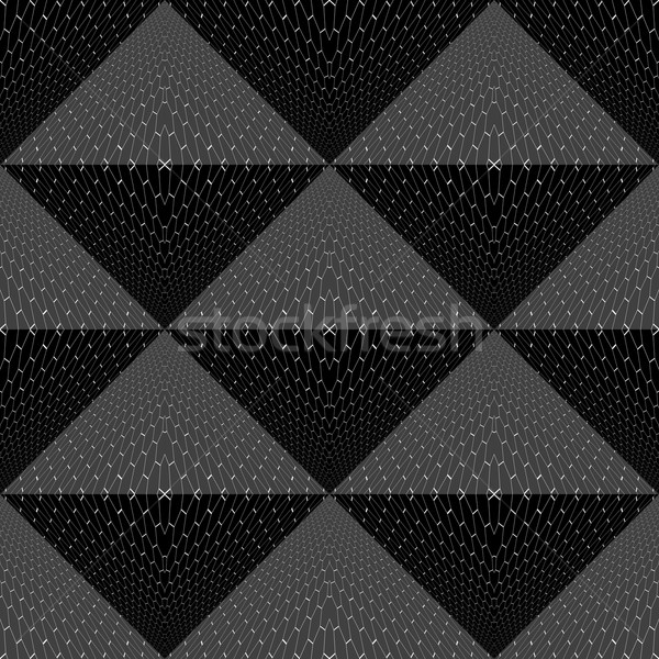 Végtelenített fekete mértani textúra vektor fal Stock fotó © ExpressVectors