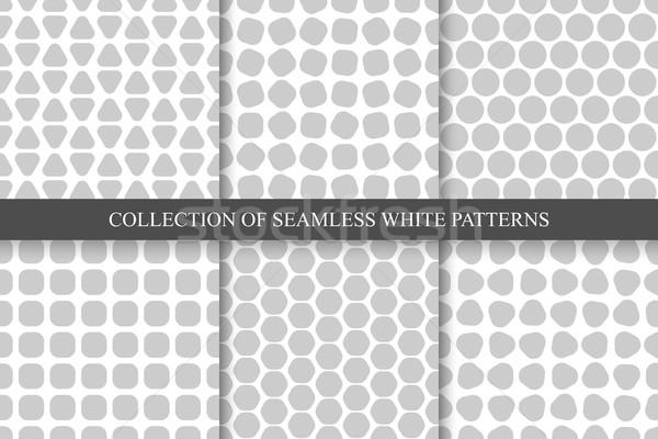 Kolekcja bezszwowy proste geometryczny wzorców wektora Zdjęcia stock © ExpressVectors