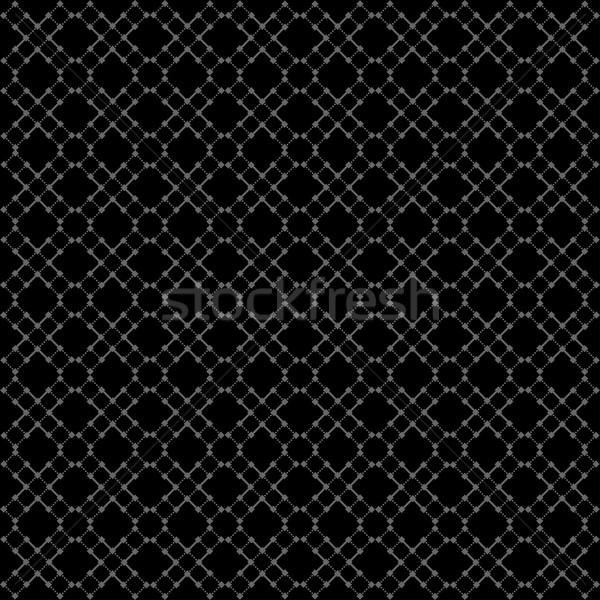 Bezszwowy czarny geometryczny wzór wektora ramki internetowych Zdjęcia stock © ExpressVectors