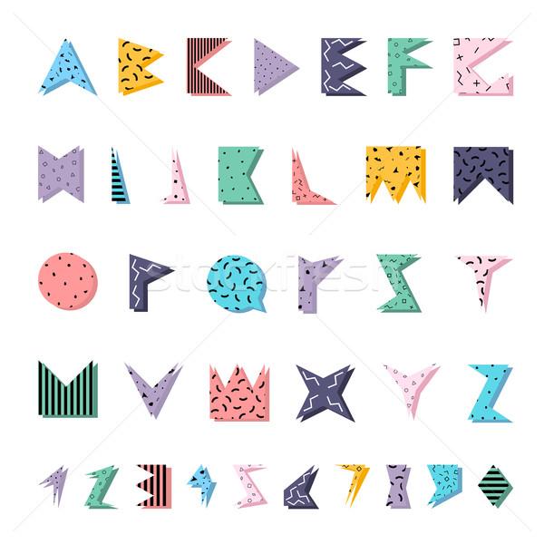 Absztrakt színes ábécé stílus eps10 születésnap Stock fotó © ExpressVectors