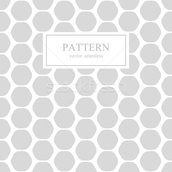 Zeshoek naadloos geometrisch patroon witte grijs muur Stockfoto © ExpressVectors