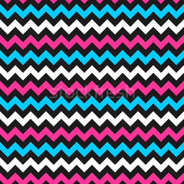 Foto d'archivio: Zig-zag · colore · pattern · colorato · vettore · senza · soluzione · di · continuità
