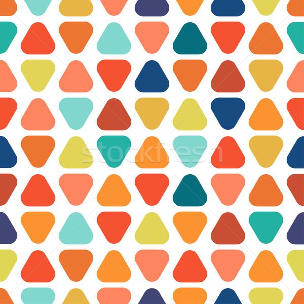Renkli geometrik desen canlı çocuklar doku Stok fotoğraf © ExpressVectors
